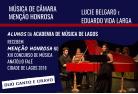 Lucie Belgard e Eduardo Vida Larga recebem menção honrosa no XIII Concurso de Música Anatólio Falé Cidade de Lagos 2018