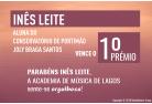 Inês Leite conquista o 1ºPrémio no XIII Concurso de Música Anatólio Falé Cidade de Lagos 2018. Parabéns Inês!