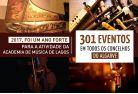 2017, foi um ano forte para a Academia de Música de Lagos. 301 eventos em todos os concelhos do Algarve